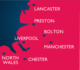 We work with firms across the North West